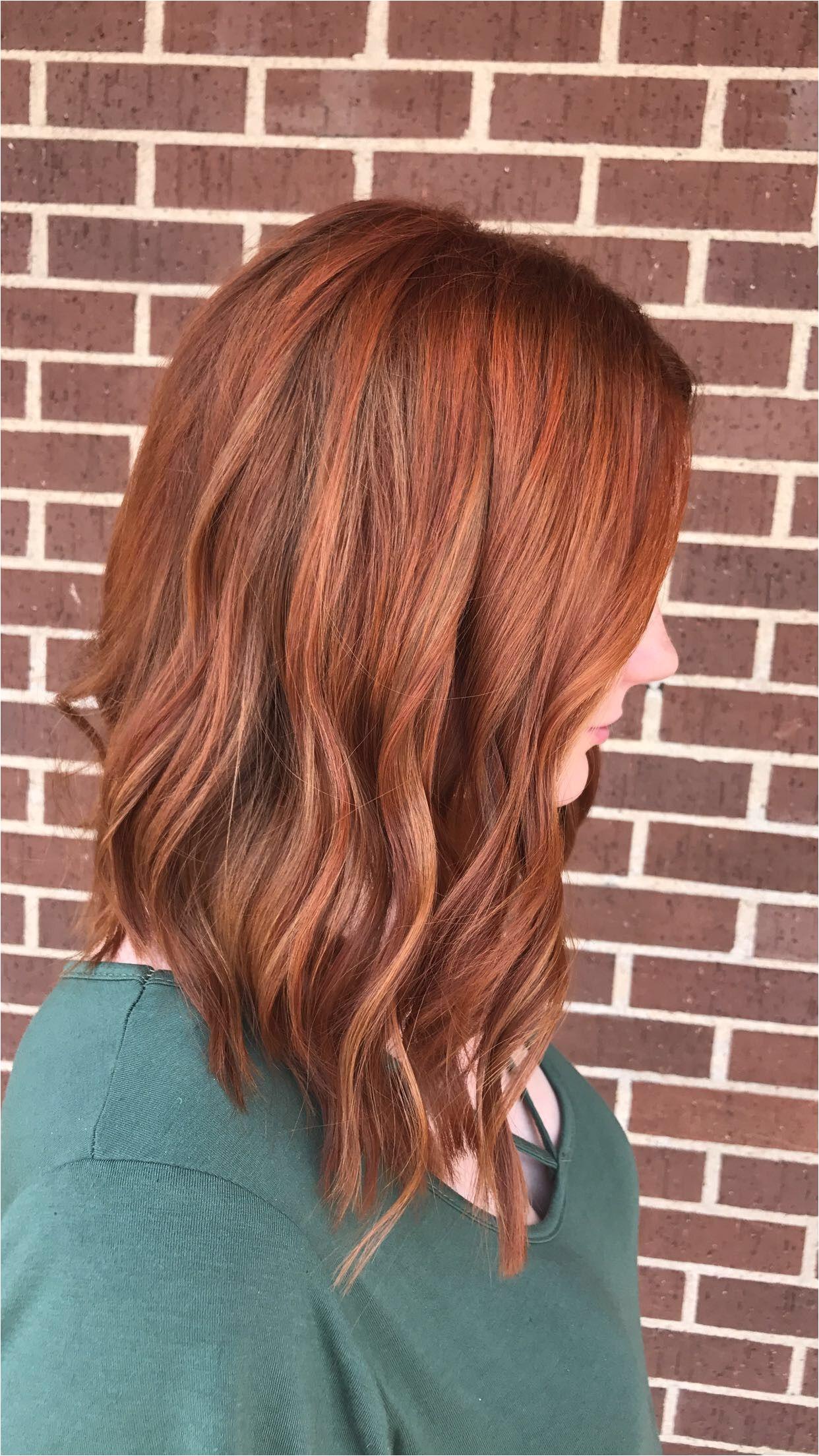 Cooper red hair Long bob cut