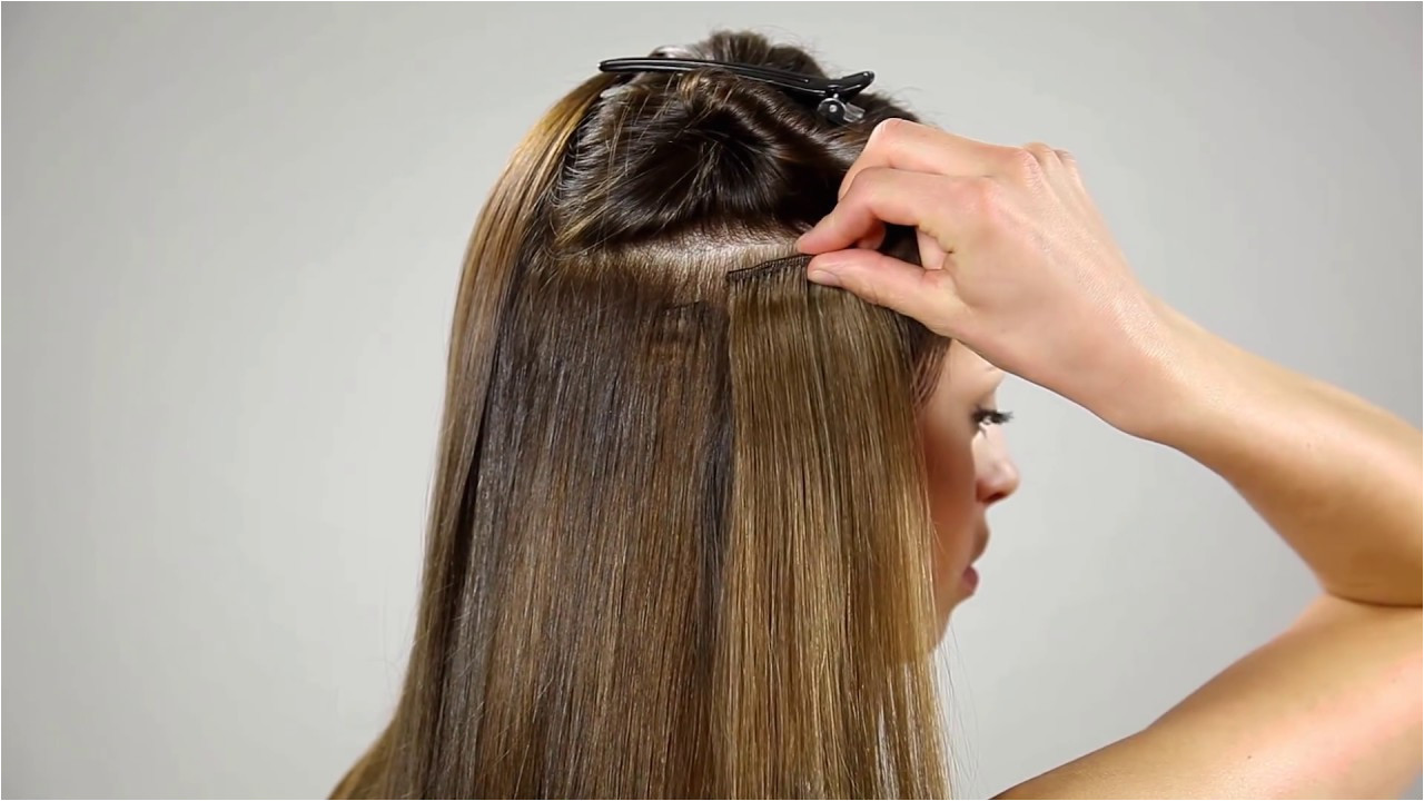 How to attach Clip on hair extensions
