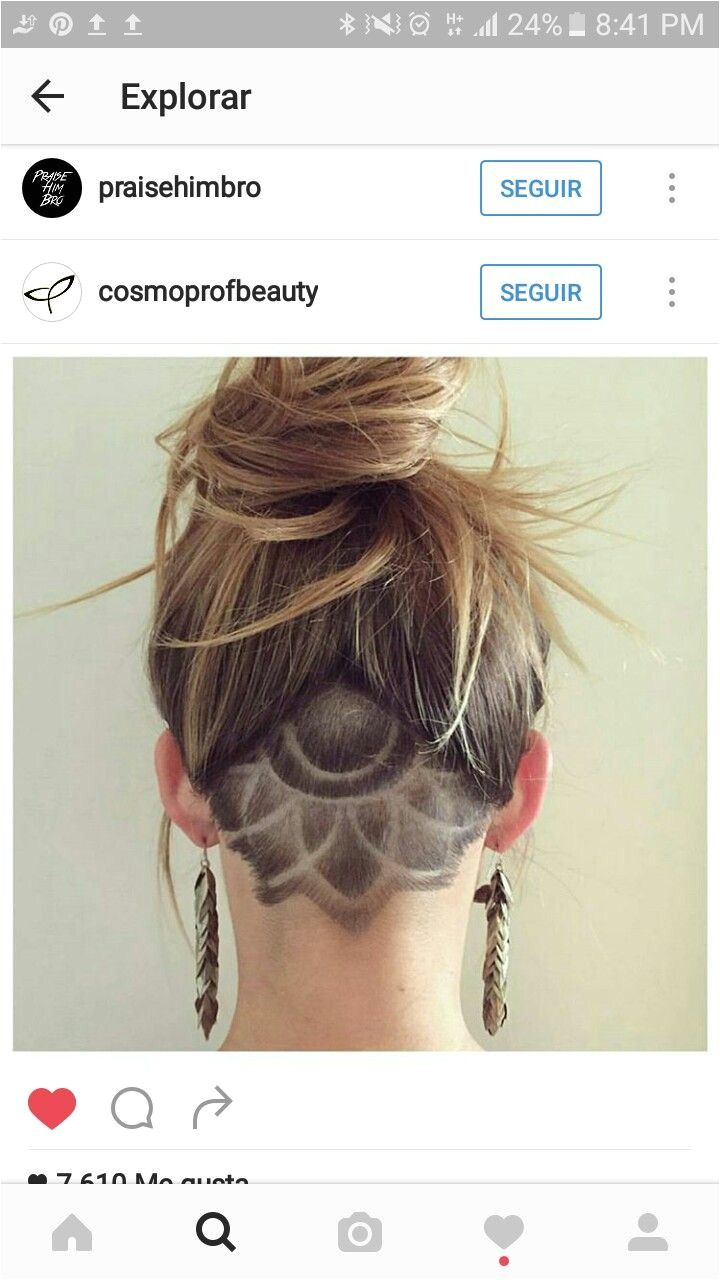 Cool mandala hairstyle