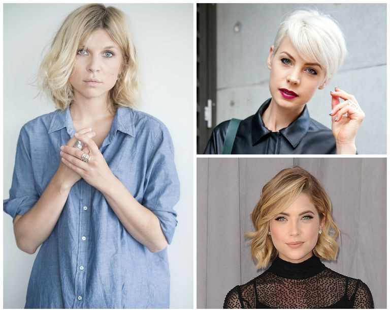 Actresses Kate Peck and Ashley Benson Getty Short blonde hair
