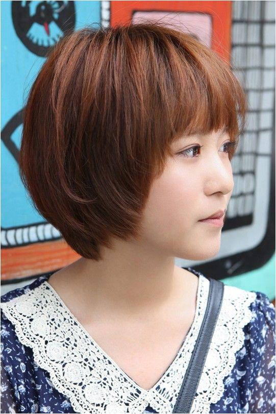 Sweet Layered Short Korean Hairstyle Side View of Cute Bob Cut