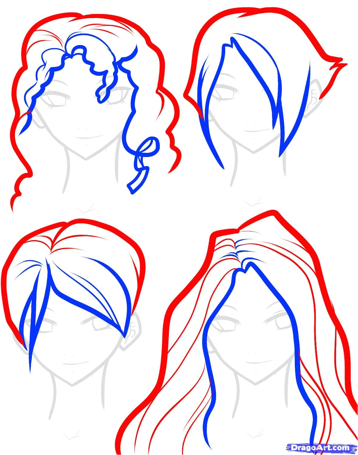 drawings short hairstyles Google Search