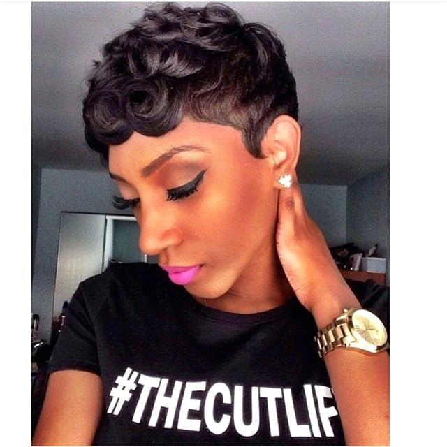 Loose Pin Curls Short Haircut The Cut Life T Shirt Haircuts for Black Women Pinterest