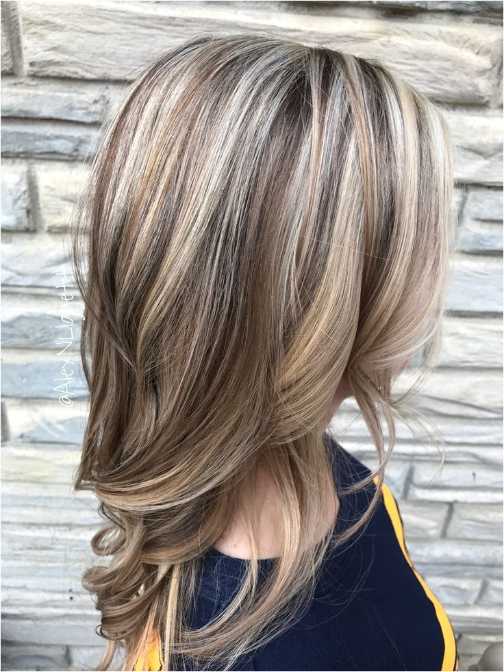 Light Brown Hair with Blonde Highlights and Lowlights