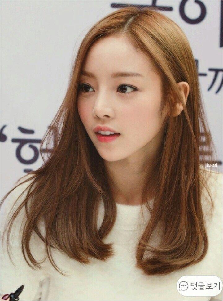 구•˜ë¼ Korean Hair Medium Long Asian Hair Korean Medium Hairstyles Asian Hair Medium