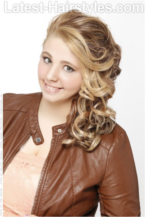 Fun Side Swept Hairstyle with Curls