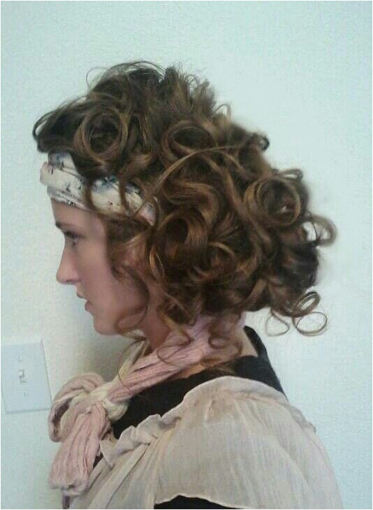 the side curls and pin curls