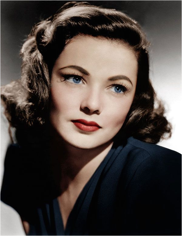 Authentic 1940s Makeup History and Tutorial Gene Tierney wears the 1940s look with all natural ease 190sfashion makeup