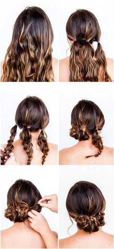 Try this hair hack and you ll be good to go in 10 minutes So easy literally anyone can do it Hair Tutorial Easy Hair