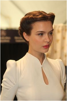 Carolina Herrera Fall 2013 RTW by David Webber for Moroccanoil Did you catch our bridal beauty