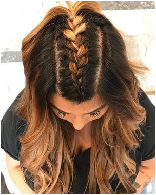 Try these 35 easy braid styles no crazy braiding skills necessary A simple French braid down the middle and into a ponytail is such a cute look
