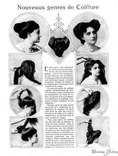 Edwardian hairstyle Vintage Hairstyles Girl Hairstyles Edwardian Hairstyles French Hairstyles Hairdos