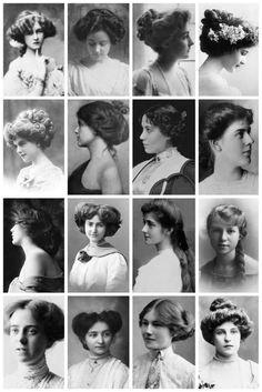 OK Penteados da Era Eduardiana 1901 a 1910 Edwardian Hairstyles 1800s Hairstyles