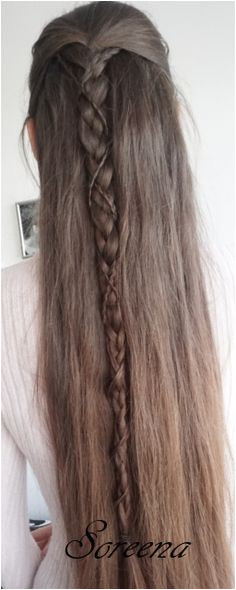 LotR Easy Elven Hairstyle on Long Hair Soreena Elven Hairstyles Calendula Lotr Long