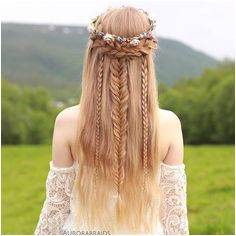 Elven Princess Hairstyle In Love with these Mixed Half