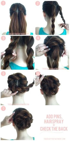 Easy to do hair for office church wedding special event fun flirty date night girls night