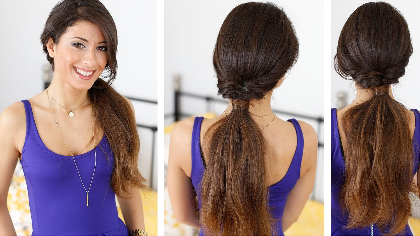 Quick and effortless ponytail hairstyle with Luxy Hair Extensions to learn how to achieve this simple and easy hairstyle LuxyHairExtensions