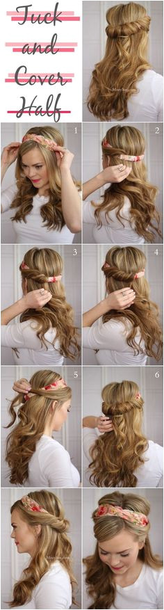 do the tuck and cover Easy Morning HairstylesEasy
