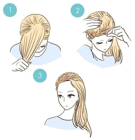 Fast hairstyles for five minutes 2018 2019 photo ideas of a simple hairstyle hairstyle hairstyles ideas minutes photo simple