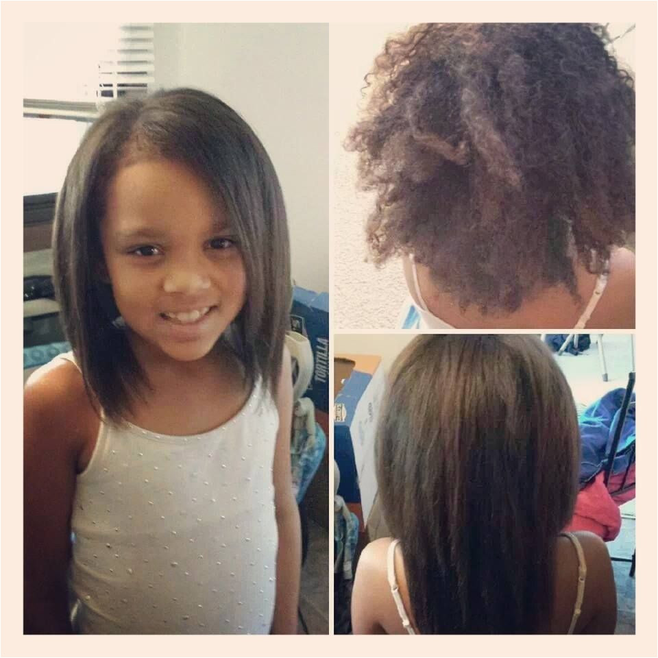 Brazillian Blowout on my beautiful 8 year old daugher She is biracial black white