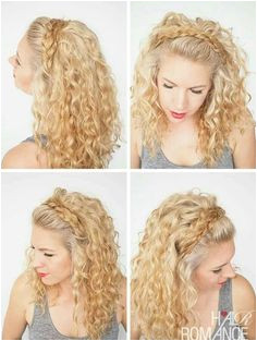 Curly Hair Headband Curly Hair Tips Curly Hair Braid Styles Curly Hair With