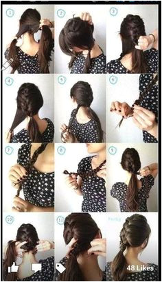 Step by step hairstyles for long hair Page 24 of 29 Hairstyle Monkey Hair Cute