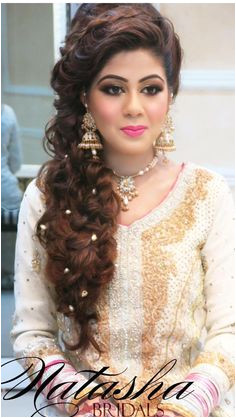 Natasha salon Bollywood Hairstyles Indian Bridal Hairstyles Bride Hairstyles Hair Bridal