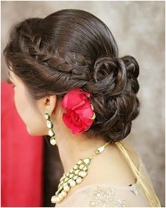 Indian Bun Hairstyles Saree Hairstyles Hairstyles 2018 Bengali Hairstyle Pakistani Wedding Hairstyles