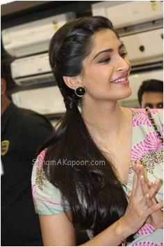 Sonam Kapoor at Electrolux Promotions Sonam Kapoor HairstylesSaree