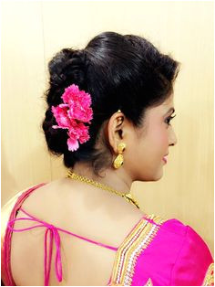 Indian bride s bridal reception hairstyle by Swank Studio Find us at s