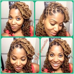 Simple Locs style Side sweep Lock knot curls