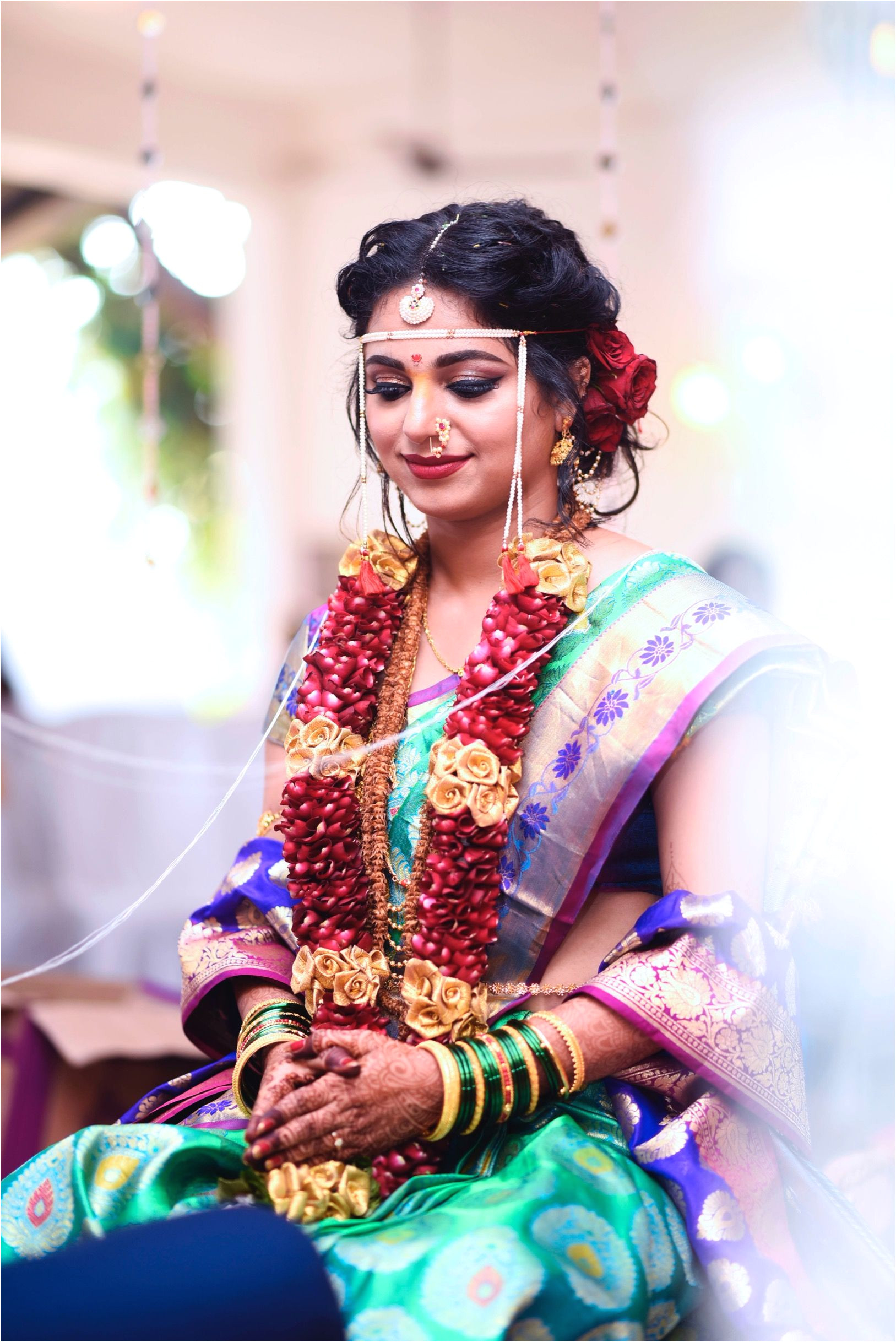 Maharashtrian Bridal Makeup and Hair by makeoversbysukanya makeup bride maharashtrianbride bridalmakeup kimkardashian girlboss bossbabe