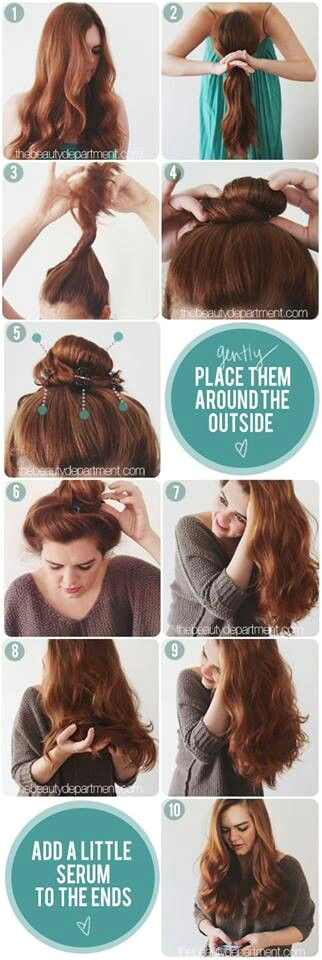 Simple n easy way to wavy ur hairs ♥♥