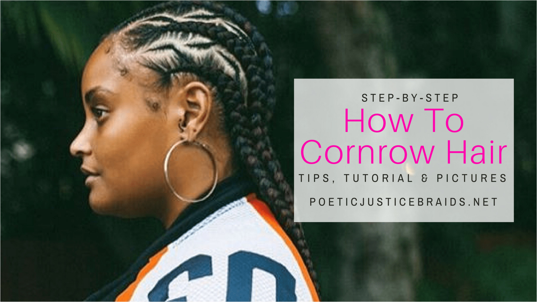 How to cornrow hair DIY I always rock a fun easy protective hairstyle during summer time Braids and cornrows are always the best choice for me