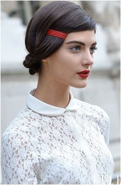 Holiday hair sleek look festive bobby pins holidaypinparty Bobby Pin Hairstyles Chic