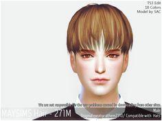 메이 아이…œ May TS4 Hari271M Sims 4 Hair Male Sims Hair Male Hair May