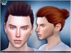 Bun for your male sims Found in TSR Category Sims 4 Male Hairstyles Source Anto Blackout Hair