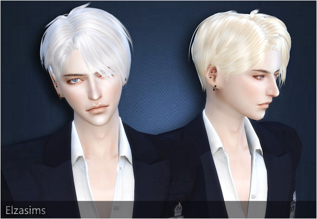Sims 4 CC s The Best Male Hair by Elzasims