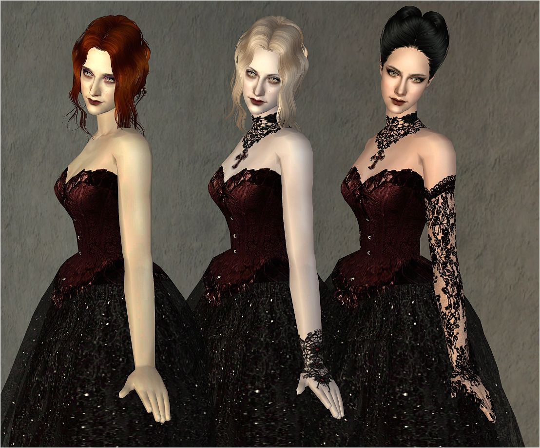 """Mod The Sims Fashion story from Heather Wedding Charm of Gothic Set """"Midnight"""""""