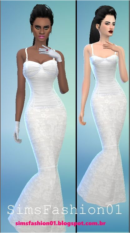 Sims Fashion 01 Wedding Dress With Corset • Sims 4 Downloads