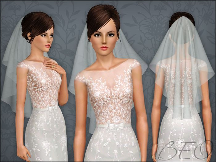 Wedding veil 04 for The Sims 3 by BEO The Sims Sims 2 Sims