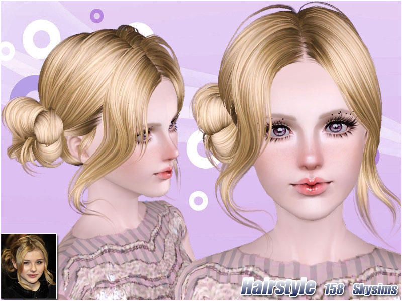 Female Sims 3 Hairstyles Skysims Hair 158