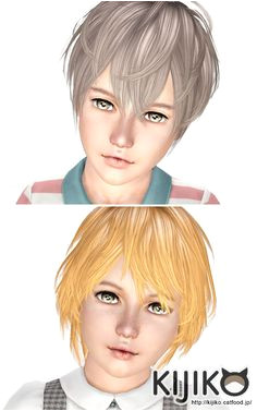 Shaggy Hairstyle for kids by Kijiko for Sims 3 Sims Hairs