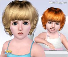 Curly bob hairstyle ID 386 by Peggy Zone for Sims 3 Sims Hairs