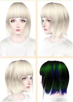CoolSims 45 hairstyle retextured by Maipham for Sims 3 Sims Hairs