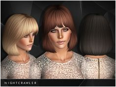 [OK] Nightcrawler Hair 27 Teen to Elder Found in TSR Category Female Sims 3 Hairstyles