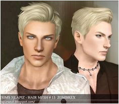 nice Sims 3 Finds Zombrex and Cupcake male hairstyles at Lapiz& Scrapyard