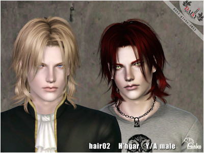 Sims 3 Male & Female Hair Ginko H hgar Hair Custom Content Download