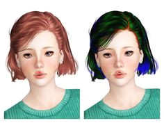 Gogumayang 4 Newsea s hairs edit Sims 3 Downloads CC Caboodle Download Hair Free Sims