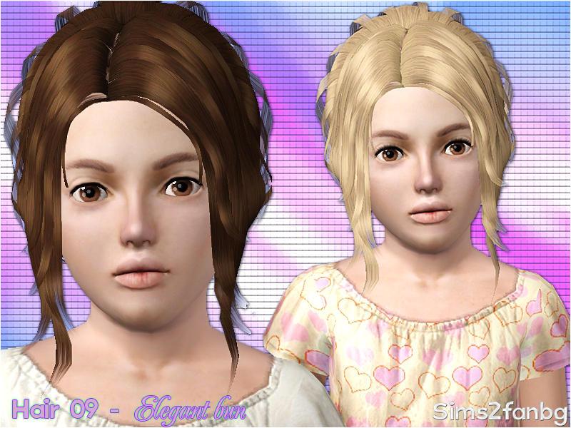 Hair 09 Elegant bun Child